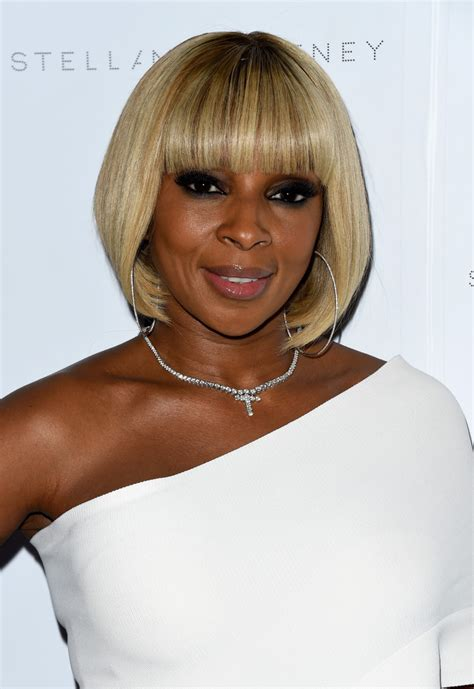 J Blige Hairstyles by J Blige Bob Hairstyle Wallpaper