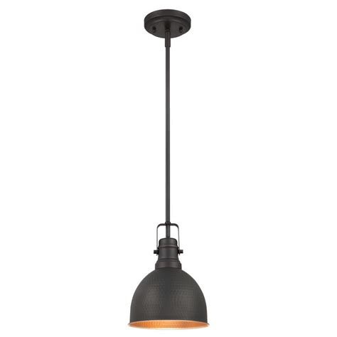 rubbed bronze mini pendant light westinghouse 1 light rubbed bronze with highlights