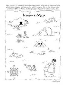 activity map template coloring pirate treasure and favors on