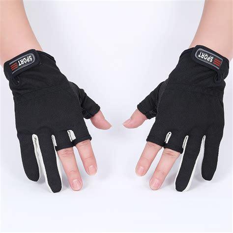 sailboat gloves fingerless exposed men women breathable fishing glove anti