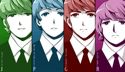 colored manga fab four by peppermoonflakes on deviantart