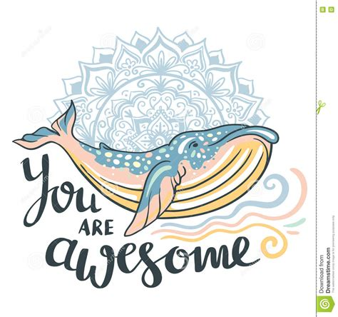 imagenes de mandalas con frases cute whale awesome whale on marine background with waves