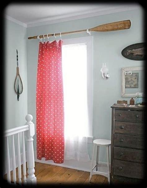 bedroom curtain rod boat oar curtain rod beach hton themed bedroom perfect