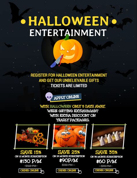 templates for halloween flyers 7 spooky halloween flyer templates venngage