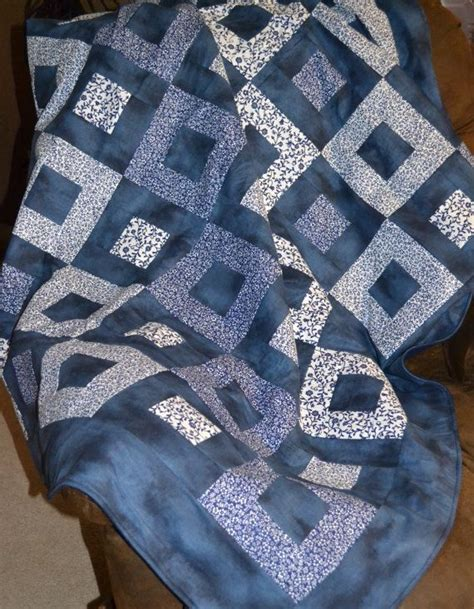 Navy And Quilt Navy And White Squares Quilt