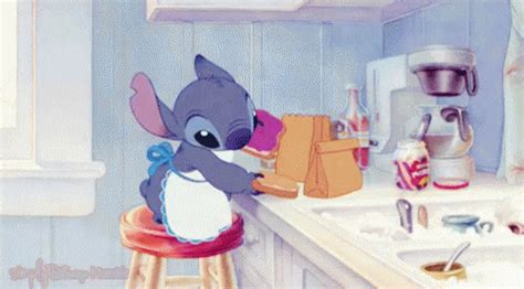 kitchen gif lilo and stitch gif liloandstitch lunch kitchen