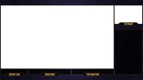 twitch stream overlay purple gold download by