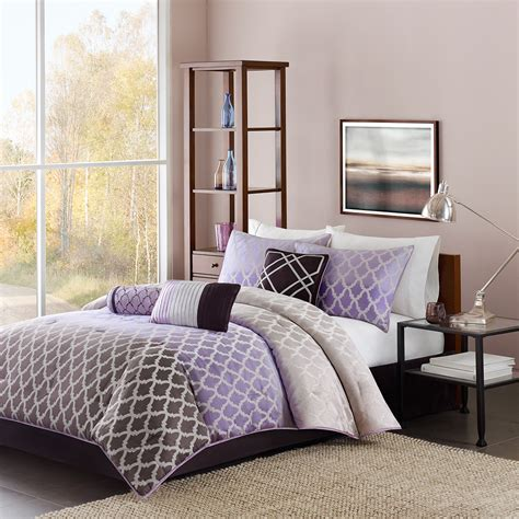 purple comforter set king madison classics mendocino cal king 7 pieces comforter set