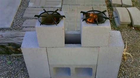 Cinder Block Homes Plans by The Quot 6 Block Quot Rocket Stove Diy Quot Dual Burner Quot Rocket