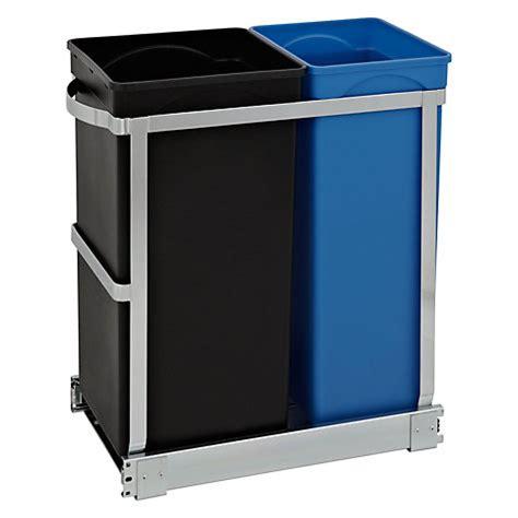 kitchen drawer liners john lewis buy simplehuman pull out recycler bin 20 15 litre john lewis