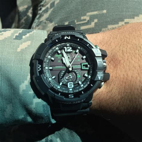 Gshock Aviator Gwa 1100 1a3 G Resist casio g shock gwa 1100 1a3 g aviation gravity defier review