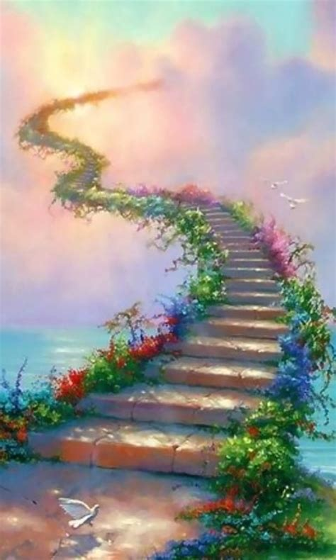 Steps To Heaven steps to heaven along with flowers and a majestic sky