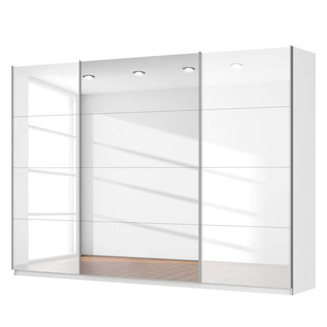 White Gloss Sliding Door Wardrobe by Sliding 3 Door Wardrobe High Gloss White With Centre