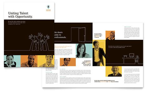 recruitment brochure template recruiter brochure template design