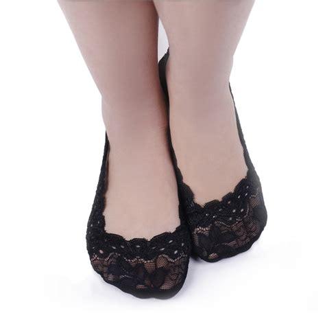 high heels socks 4pairs womens no show silicone heel grip socks non skid