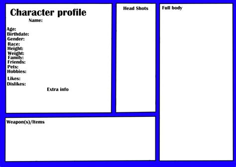 character profile template goodshows
