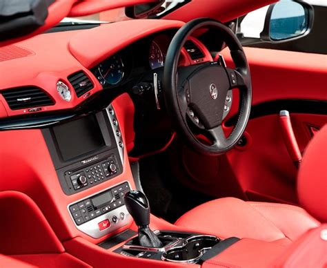maserati truck red maserati gran cabrio interior luxury cars red