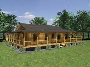 ranch style log home floor plans small home plans with wrap around porch 3d small house