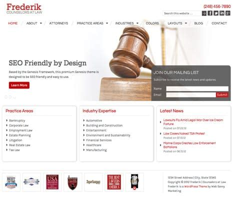 frederik | law wordpress theme | law firm and lawyer theme
