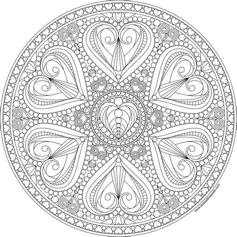 intricate valentine coloring pages don t eat the paste 2016 valentine mandala to color