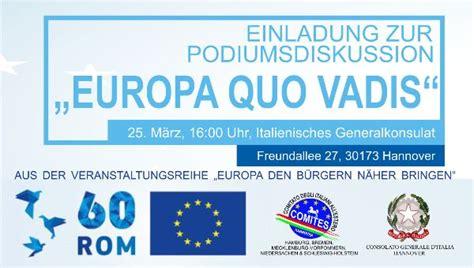 consolato hannover comites di hannover europa quo vadis