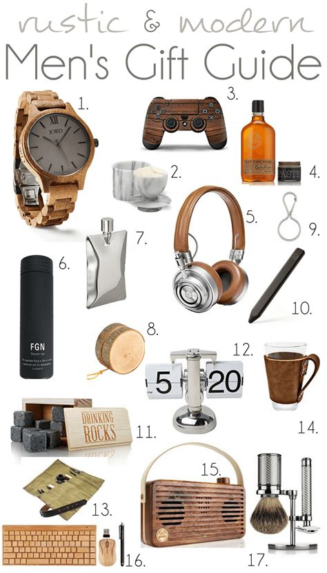 2016 rustic and modern men s gift guide pocketful of posies