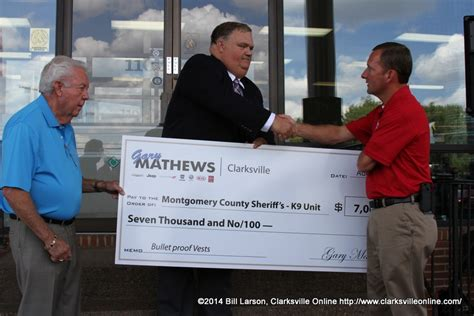 gary mathews motors recognized for donation of ballistic