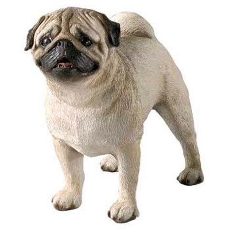 pug statues size pug fawn standing statue