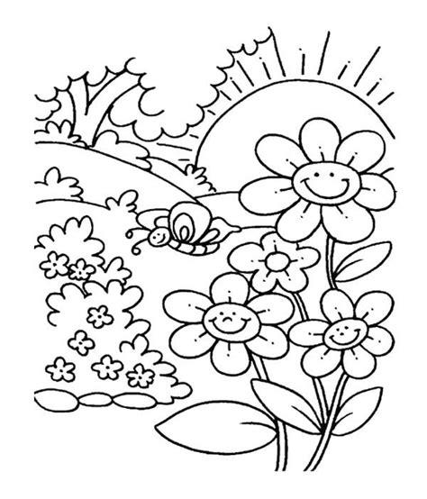 gardening coloring pages for kindergarten spring flower in garden coloring pages for kids kids