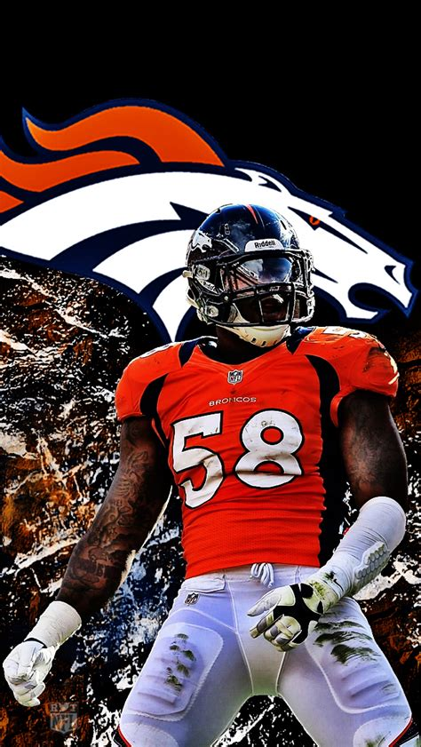 wallpaper iphone 5 nfl von miller two iphone 5 wallpaper 640x1136