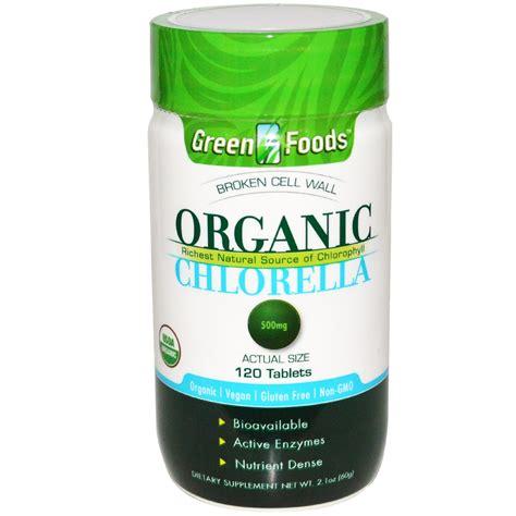 Suplemen Chlorella green foods corporation organic chlorella 500 mg 120