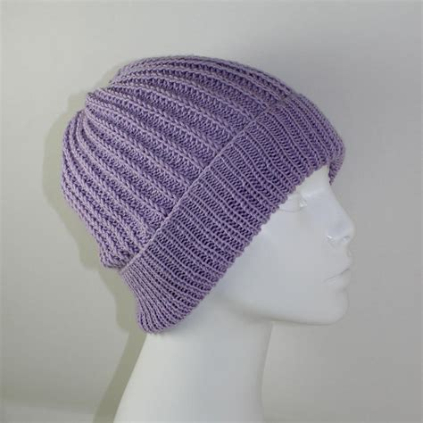 knitted beanie pattern 4 ply fishermans rib unisex beanie hat knitting pattern by