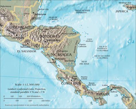 mapa america central y antillas am 233 rica central y las antillas ciencia geogr 225 fica