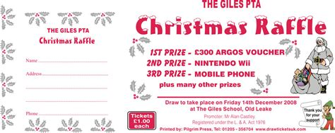 images of christmas raffle tickets raffle prize ideas
