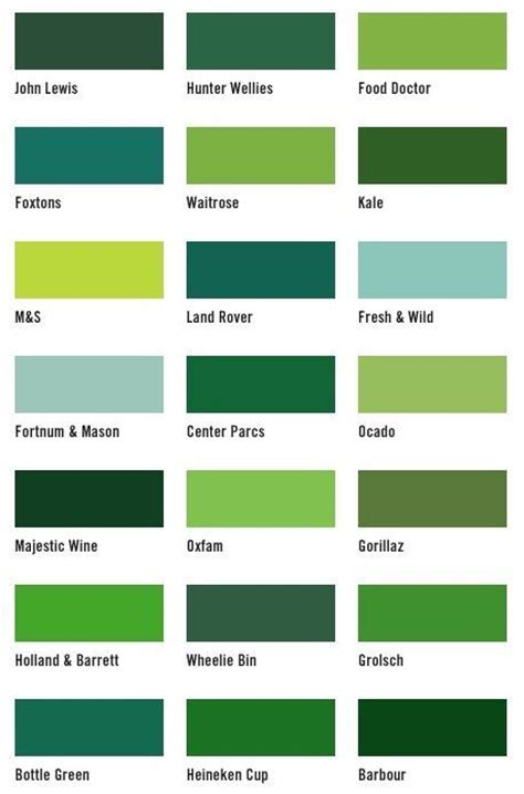 best 25 shades of green names ideas on