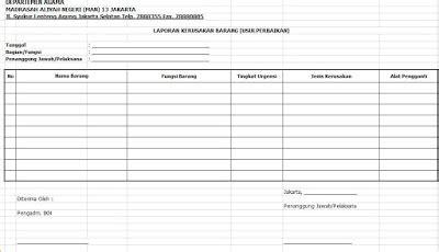 macam format buku besar download format buku laporan kerusakan barang usul perbaikan