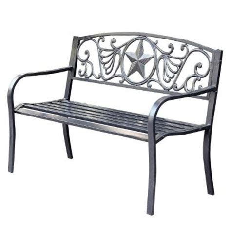 curved park bench jeco 50 in star curved back steel park bench pb005 the