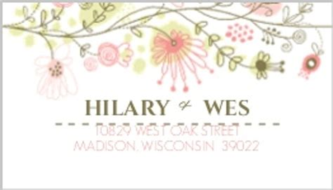 Wedding Address Label Clip by Floral Border Address Label Wedding Address Labels