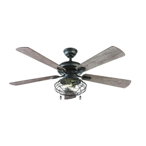 home depot led ceiling fan home decorators collection ellard 52 in led natural iron