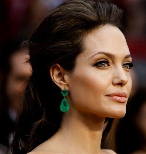 earring style for sagging jawline angelina jolie hairstyles facehairstylist com