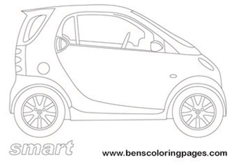 smart car coloring page smart city car coloring page