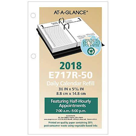 at a glance desk calendar at a glance desk calendar refill 3 12 x 6 30percent