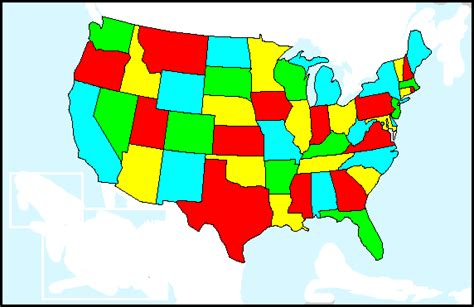 color map of united states file four color map of the united states png