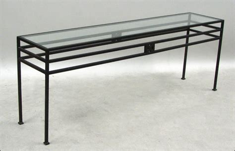 metal and glass console table 1675504
