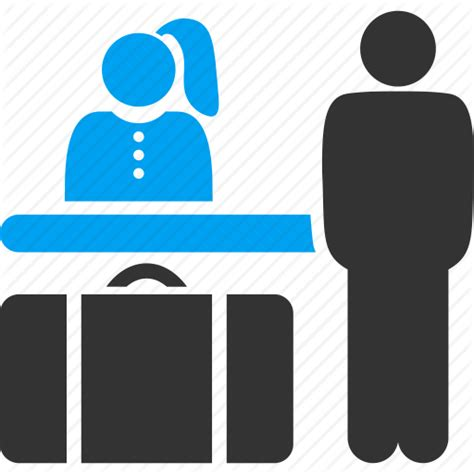 Room Booking Icon by Guest Hotel Luggage Reception Receptionist Room