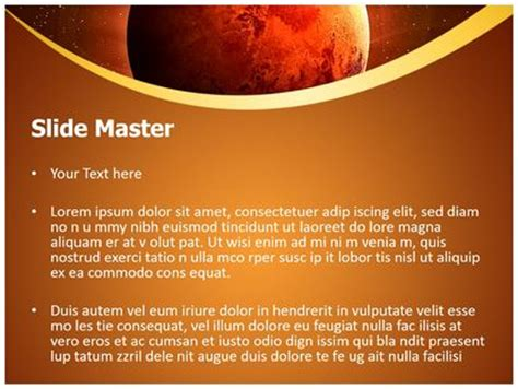 planet mars powerpoint template background