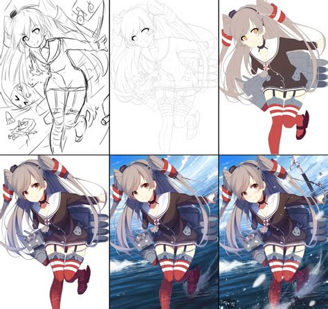 How Does It Take To Process A Background Check Ikou Drawing Process By Riki To On Deviantart