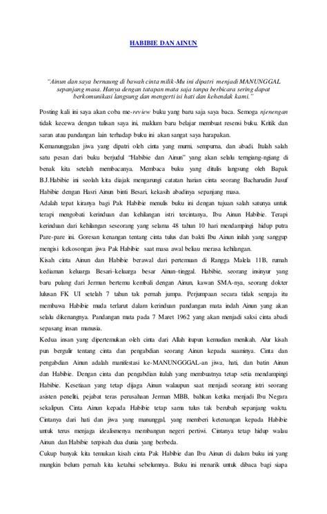 biografi novel habibie dan ainun novel habibie dan ainun
