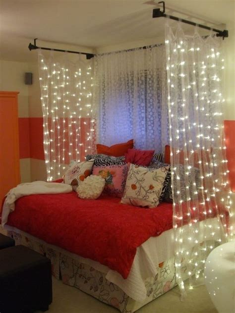 how to hang curtains around your bed cute diy bedroom decorating ideas girls curtain ideas