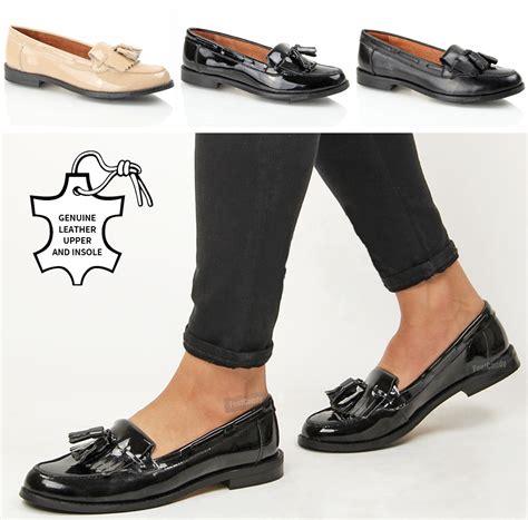 loafer shoes for womens womens leather tassel fringe comfort slip on office